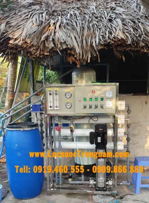 hệ thống lọc nước nhiễm mặn để tưới cây